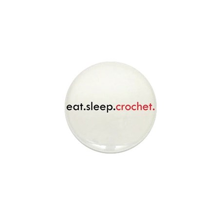 Eat Sleep Crochet Mini Button (100 pack)