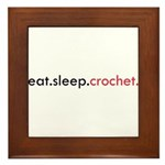 Eat Sleep Crochet Framed Tile