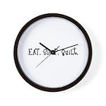 Eat Sleep Quilt Wall Clock