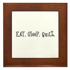 Eat Sleep Quilt Framed Tile