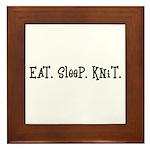 Eat Sleep Knit Framed Tile