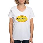 Kissbull Women's V-Neck T-Shirt