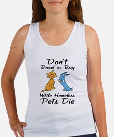 Don't Breed or Buy Cat&Dog Women's Tank Top