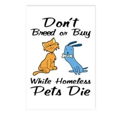 Don't Breed or Buy Cat&Dog Postcards (Package of 8