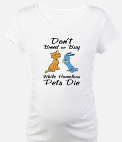 Don't Breed or Buy Cat&Dog Shirt