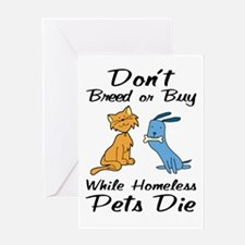 Don't Breed or Buy Cat&Dog Greeting Card