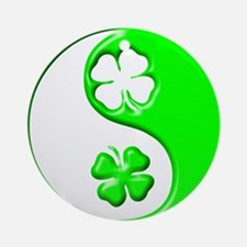 Yin Yang Clovers 1 Ornament (Round)
