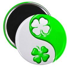 Yin Yang Clovers 1 Magnet