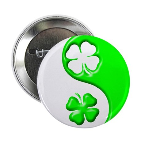 "Yin Yang Clovers 1 2.25"" Button"