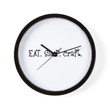 Eat Sleep Craft Wall Clock