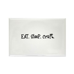 Eat Sleep Craft Rectangle Magnet (100 pack)