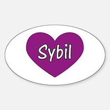 Sybil Oval Decal