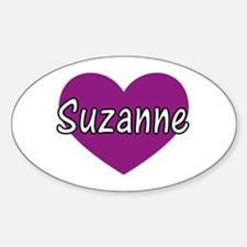 Suzanne Oval Decal