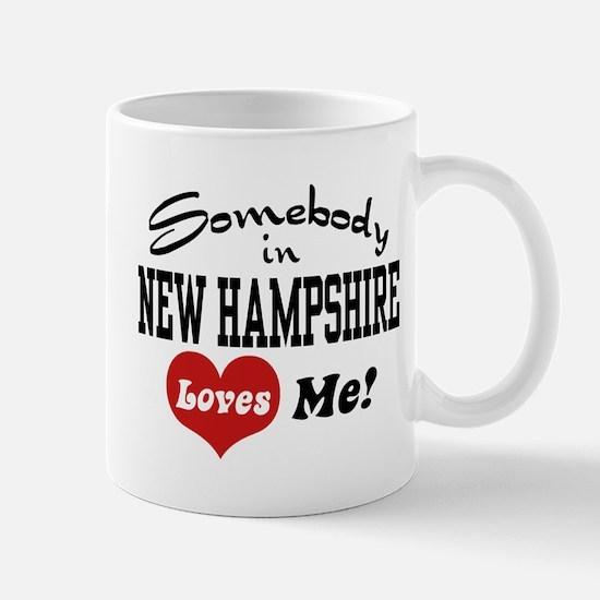 Somebody in New Hampshire Loves Me Mug