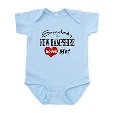 Somebody in New Hampshire Loves Me Infant Bodysuit