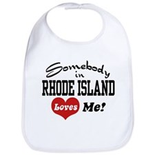 Somebody in Rhode Island Loves Me Bib