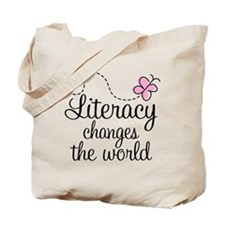 Literacy Reading Quote Tote Bag