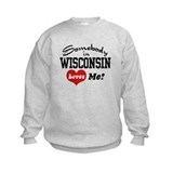 Kids wisconsin Crew Neck