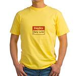 Hello I'm A Yarn Lover Yellow T-Shirt
