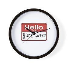 Hello I'm A Yarn Lover Wall Clock