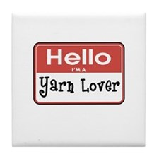 Hello I'm A Yarn Lover Tile Coaster