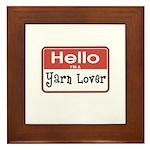 Hello I'm A Yarn Lover Framed Tile