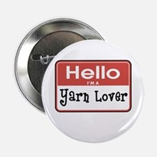 "Hello I'm A Yarn Lover 2.25"" Button"
