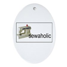 Sewaholic - Sewing Machine Oval Ornament