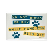 Do Not Breed or Buy Labels Rectangle Magnet