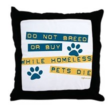 Do Not Breed or Buy Labels Throw Pillow