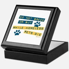 Do Not Breed or Buy Labels Keepsake Box