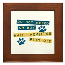 Do Not Breed or Buy Labels Framed Tile