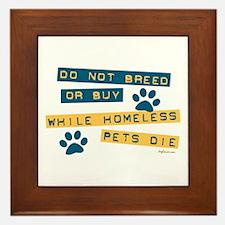 Do Not Breed or Buy Labels Framed Tile