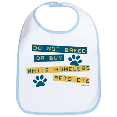Do Not Breed or Buy Labels Bib