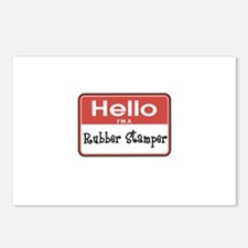 Hello I'm A Rubber Stamper Postcards (Package of 8