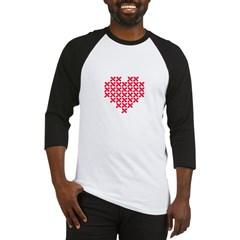 Cross Stitch Valentine Baseball Jersey