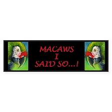 Green Military Macaw Bumper Bumper Sticker