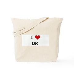 I Love DR Tote Bag