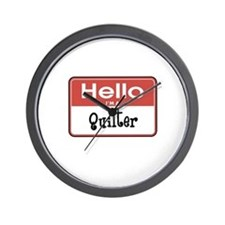 Hello I'm A Quilter Wall Clock