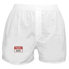 Hello I'm A Quilter Boxer Shorts
