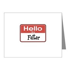 Hello I'm A Felter Note Cards (Pk of 10)