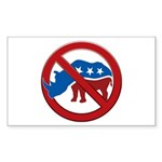 No RINOs! Rectangle Sticker