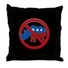 No RINOs! Throw Pillow