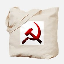 Burned Hammer and Sickle Tote Bag