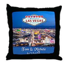 Sample Vegas Personalized Throw Pillow