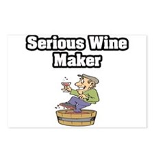"""""""Serious Wine Maker"""" Postcards (Package of 8)"""