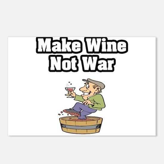 """Make Wine Not War"" Postcards (Package of 8)"