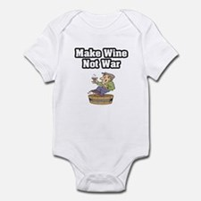 """Make Wine Not War"" Infant Bodysuit"