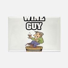 """Wine Guy"" Rectangle Magnet"