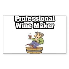 """Professional Wine Maker"" Rectangle Decal"